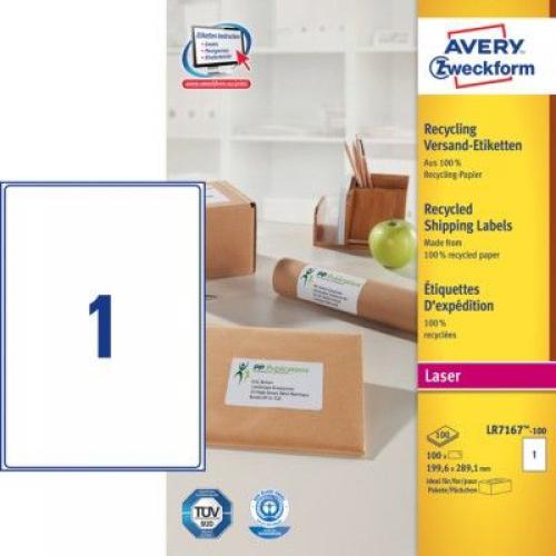 Белые эко-этикетки QuickPEEL из бумаги, 199 x 298.1, LR7167-100
